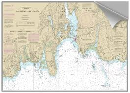 Tide Chart For Niantic Ct Peel And Stick Nautical Chart Of Niantic Bay Ct