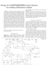 Binary Distillation Column Design Pdf Design Of A Fuzzy Supervisory Control System For A
