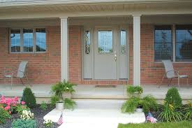 aluminum recessed panel columns on a front porch