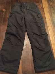 Boys Girls Rawik Black Ski Snowboarding Pants Size Large