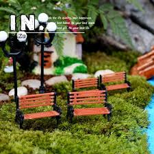 garden ornaments and accessories.  Garden Cute Mini Chair Bench Home Decor Miniatures Fairy Garden Ornaments  Figurines Toys DIY AquariumDollhouse For And Accessories A