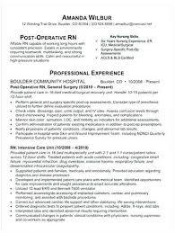 Sample Of Rn Resumes Medical Surgical Nurse Resume Med Nursing Resumes Ical Source