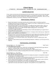 Business Objectives For Resume Objective For Resumes Resume Examples
