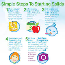 Gerber Solids Chart Solid Food Chart For Babies Aged 133