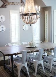farm table with metal chairs implausible interior design 40