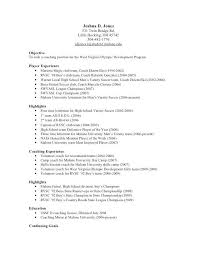 coaching resume example soccer resume example examples of resumes