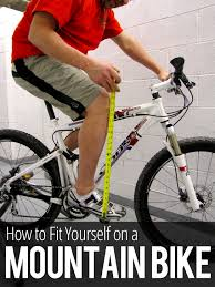 how to fit yourself on a mountain bike