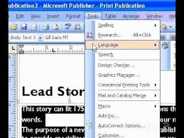 Ms Office Publisher Microsoft Office Publisher 2003 Hyphenate Text Automatically Youtube