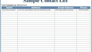 employee contact list template employee phone list template word excel formats