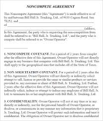 Noncompete Clause Non Compete Agreement 9 Free Pdf Word Download