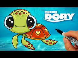 Small Picture How to Draw Squirt from Finding Dory step by step Cute Sea Turtle