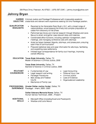 Resume Objective For Paralegal Captivating Paralegal Resume Objective 100 Litigation Experienced 83