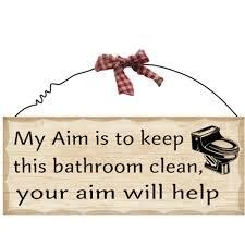 com 1 x 10 x4 wooden sign decor bathroom aim by fuqua5 home kitchen
