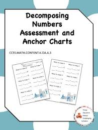 Decomposing Numbers Anchor Chart Decomposing Numbers Assessment