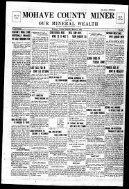 Mohave County miner and our mineral wealth, 1920-03-13 - Mohave County  Miner and Our Mineral Wealth - Arizona Memory Project