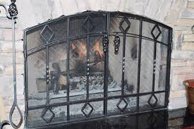 black fireplace doors custom