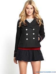 yw265425 superdry staten island pea coat women s jackets winter coats