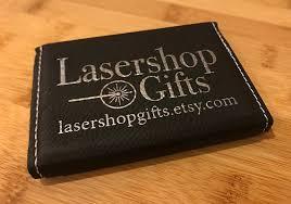 Laser Engraved Business Card Holder For Him Or Her Etsy