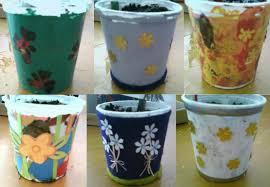 Decorating Plastic Tumblers Plastic Pots Decorating Ideas