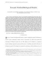 Towards Verified Biological Models