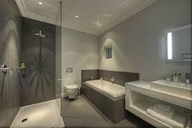 Grey white bathroom decoration using grey mosaic tile bathtub ...