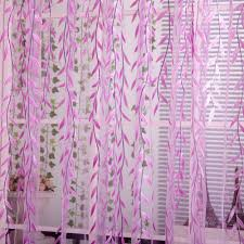 Net Curtains For Living Room Aliexpresscom Buy Elegant Willow Pattern Voile Window Net