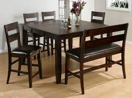 dazzling espresso small dining room sets with black vinyl dining bench seating also square dining table on oak wood floor images