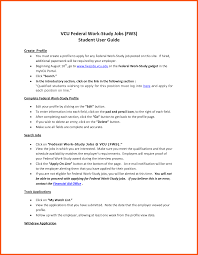 work study cover letters 8 cover letter federal job iwsp5