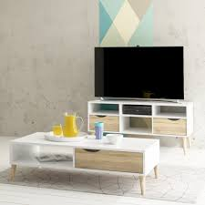 ora storage coffee table white and oak