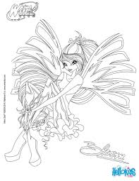 Bloom, transformation sirenix coloring pages - Hellokids.com