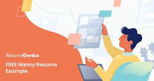 Nanny Resume Example Writing Tips Resume Genius