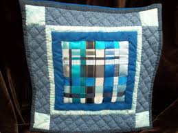 Cushion Cover – Handmade Woven Ribbon panel, Patchwork and Quilted ... & ... some hand quilting and finished it off with a simple cushion back. I  was so pleased with it I carried on and made more in different colours –  See below! Adamdwight.com