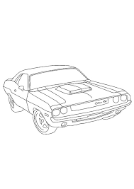 Convertible car on the road. Coloring Pages Printable Car Coloring Pages