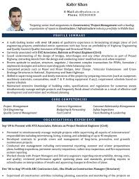 Civil Engineer Cv Format Civil Engineer Resume Sample And
