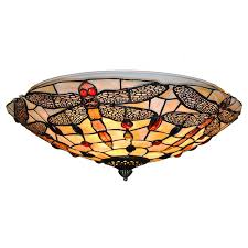 2018 european vintage stained glass ceiling lights classic tiffanylamp dragonfly hanging lamps living room bedroom lighting cl282 from jinyucao