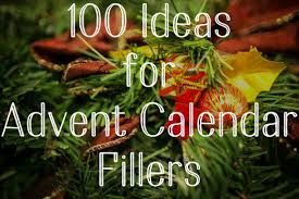 100 suggestions and ideas for filling up your advent calendar pockets