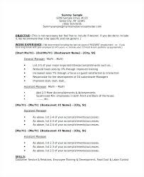 Restaurant Manager Resume Restaurant Manager Resume Template For Or