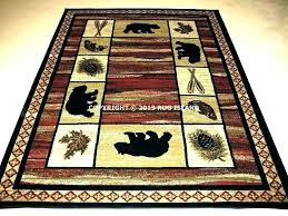 hunting lodge area rugs rustic cabin medium size of rug foot square lovely log