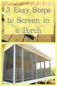 screen your porch in 3 easy steps