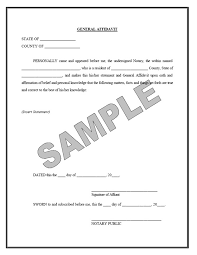 Affidavit Statement Of Facts Cool Affidavit Forms
