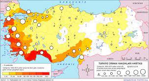 Türkiye Orman Yangınları Afet Haritası: En Çok Orman Yangını Hangi Bölgede  (İlde) Görülür?