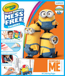 Halloweene coloring sheets fantastic for kids cute. Amazon Com Crayola Color Wonder Despicable Me Coloring Pages Mess Free Coloring Gift For Kids Age 3 4 5 6 Model Number 75 2499 Toys Games