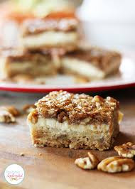 pecan pie cheesecake bars. Simple Pecan Pecan Cheesecake Squares Recipe At Positively Splendid  A Layer Of  Shortbread A In Pie Bars