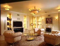 lighting room. Living Room, Antique Chandelier Room Lighting With Yellow Shade Combined Simple Pendant Lamps