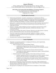 Information Technology Specialist Sample Resume Mitocadorcoreano Com