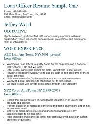 Bank Commercial Loan Officer Resume Free Sample Banking Resumes Best