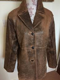 wilsons leather coat size l