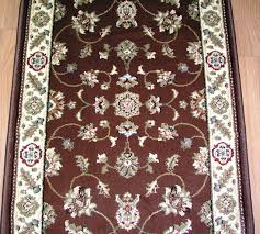 166648 central oriental interlude 8265bw traditional 26 inch runner brown