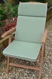 olive green recliner garden chair