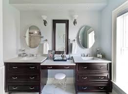 bathroom vanity with makeup station. twin vanity with makeup station for bathroom counter ideas made of cherry wood f